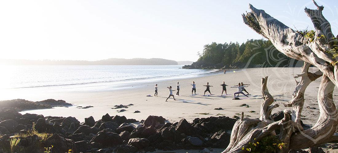 Beach Yoga, Tofino BC