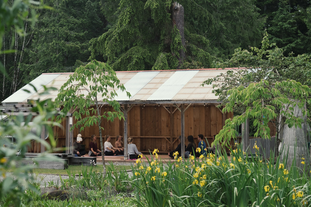Restorative yoga teacher training at the Tofino Yoga Barn