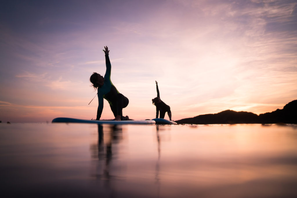 Stand Up Paddleboard Yoga teacher training at Tofino Yoga